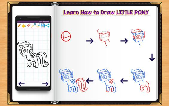 Learn How to Draw Little Pony apk screenshot