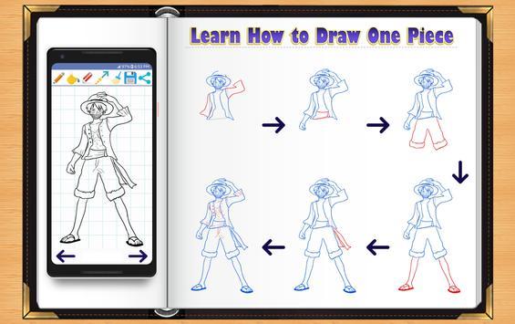 Learn How to Draw One Piece Manga apk screenshot