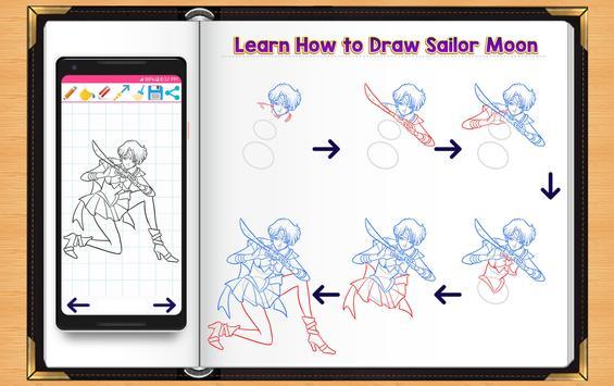 Learn How to Draw Sailor Moon apk screenshot