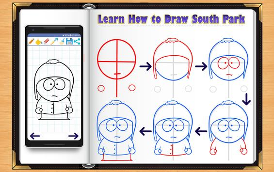Learn How to Draw South Park Characters screenshot 6
