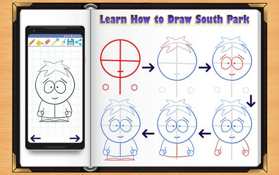 Learn How to Draw South Park Characters screenshot 9