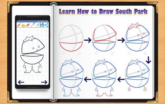 Learn How to Draw South Park Characters screenshot 10