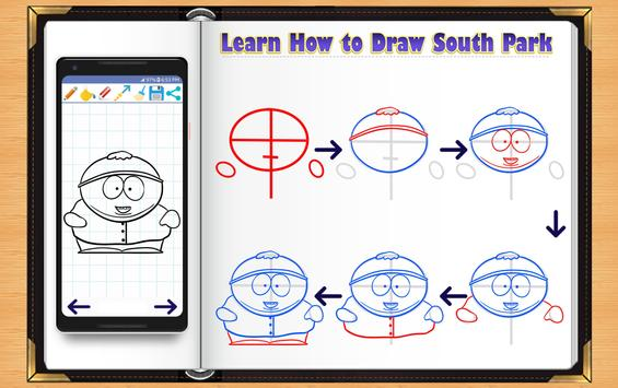Learn How to Draw South Park Characters screenshot 1
