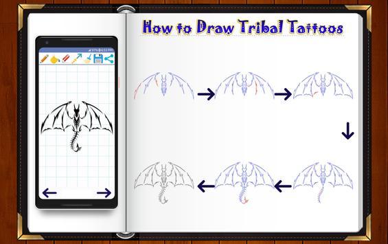 Learn How to Draw Tribal Tattoo Designs screenshot 5