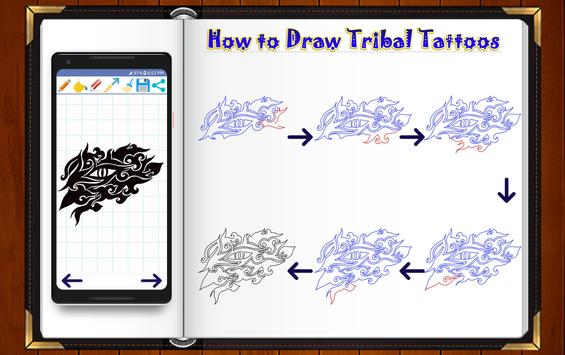 Learn How to Draw Tribal Tattoo Designs screenshot 7