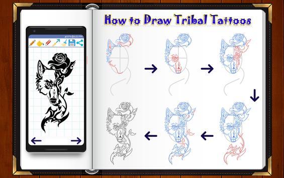 Learn How to Draw Tribal Tattoo Designs screenshot 8