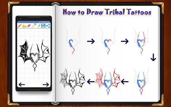 Learn How to Draw Tribal Tattoo Designs screenshot 10