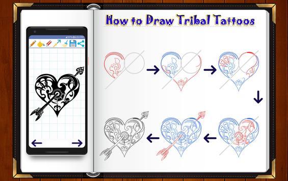 Learn How to Draw Tribal Tattoo Designs screenshot 11