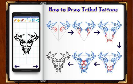 Learn How to Draw Tribal Tattoo Designs screenshot 12