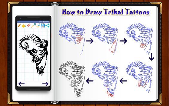 Learn How to Draw Tribal Tattoo Designs screenshot 14