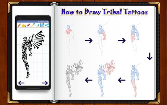Learn How to Draw Tribal Tattoo Designs screenshot 1
