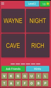 Guess 4 Words 1 Superheroes apk screenshot