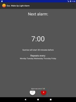 Ess. Wake Up Light Alarm Clock apk screenshot