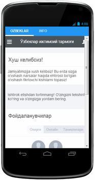 ozbeklar.com Ўзбеклар ижтимоий тармоғи poster