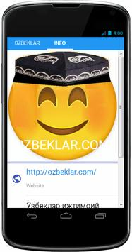 ozbeklar.com Ўзбеклар ижтимоий тармоғи apk screenshot