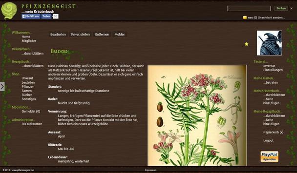 Pflanzengeist poster