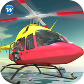 Flying Pilot Helicopter Rescue icon