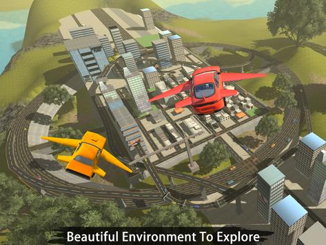 Flying Car Flight Pilot 3D apk screenshot