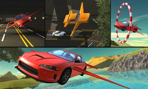 Flying Car Flight Pilot 3D poster
