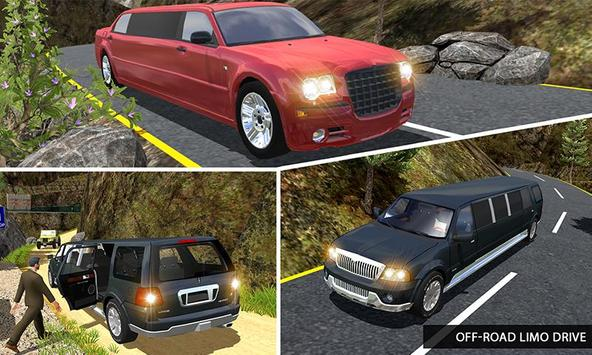 Offroad Uphill Limo Driving 3D poster