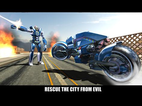 Police Superhero Robot Bike screenshot 10