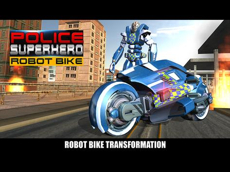 Police Superhero Robot Bike screenshot 12