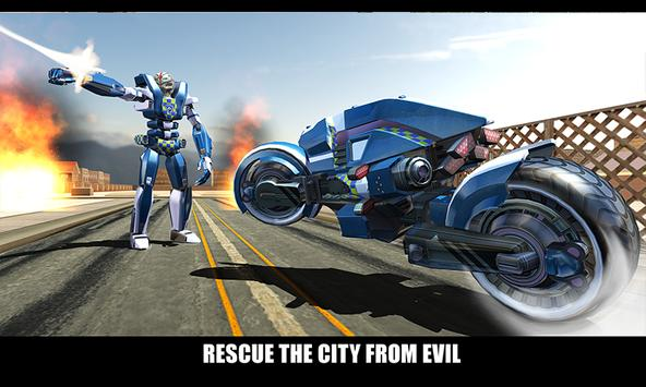 Police Superhero Robot Bike screenshot 4