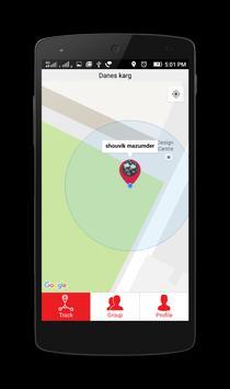 iTracked Personal-GPS tracker apk screenshot