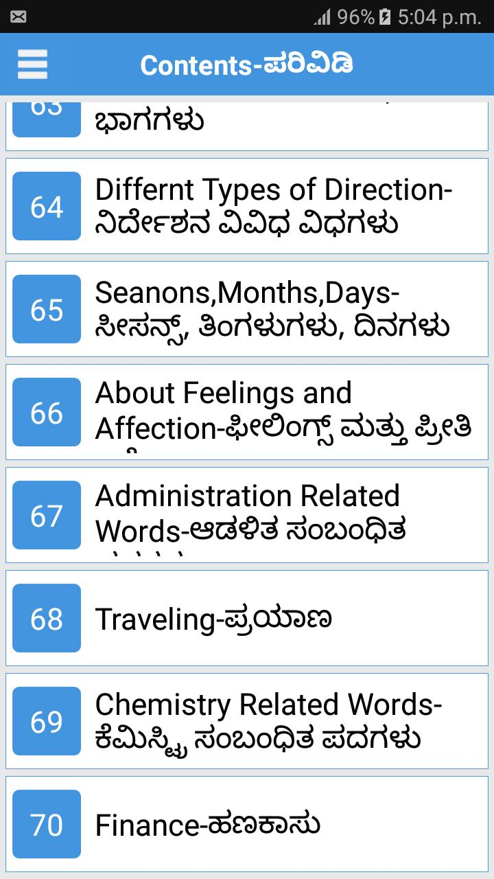 Daily Word English to Kannada for Android - APK Download