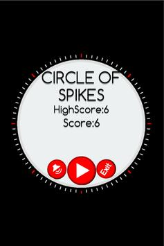 CIRCLE OF SPIKES poster
