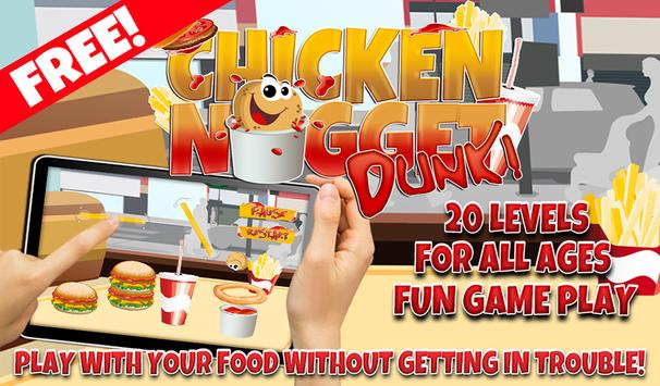 Chicken Nugget Dunk Game FREE poster