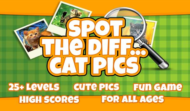 FREE Spot The Difference Cats poster