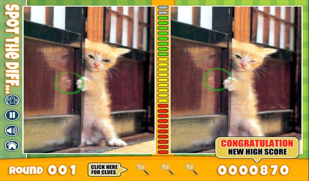 FREE Spot The Difference Cats apk screenshot