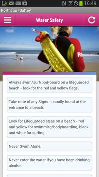 Porthcawl Safety poster