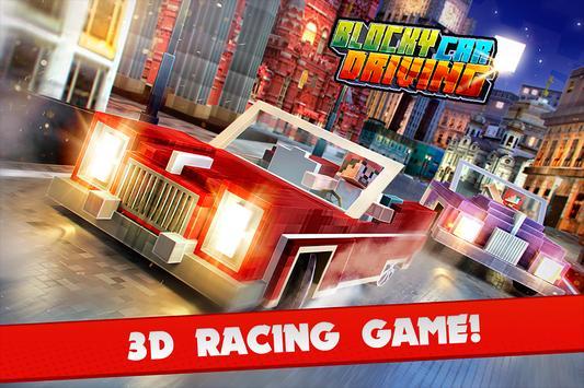 Blocky Car Driving Simulator poster