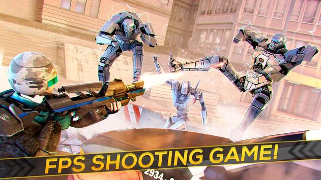 Robots Strike FPS Shooting apk screenshot