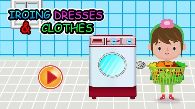 Washing and Ironing Clothes: Kids Laundry Game poster