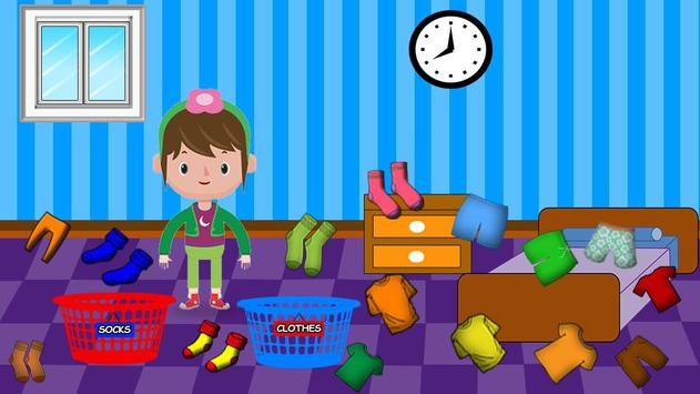 Washing and Ironing Clothes: Kids Laundry Game screenshot 15