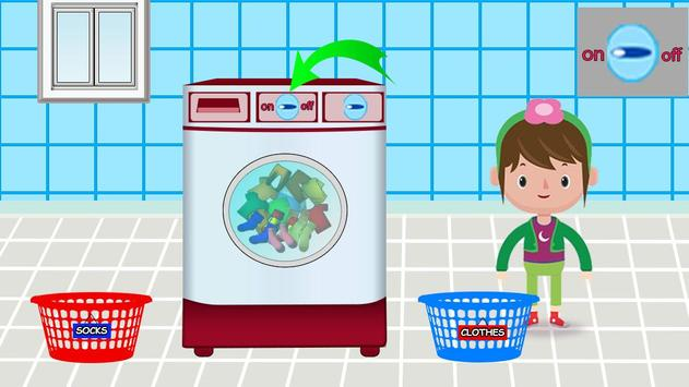 Washing and Ironing Clothes: Kids Laundry Game screenshot 3