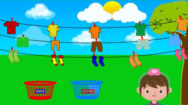 Washing and Ironing Clothes: Kids Laundry Game screenshot 4