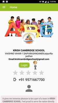 KRISH CAMBRIDGE SCHOOL (Wschool) poster