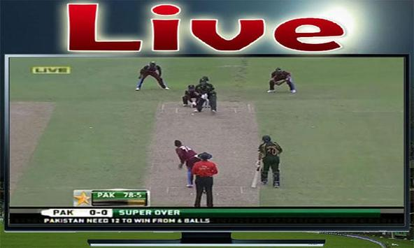 Pak Vs WI Live Cricket TV HD apk screenshot