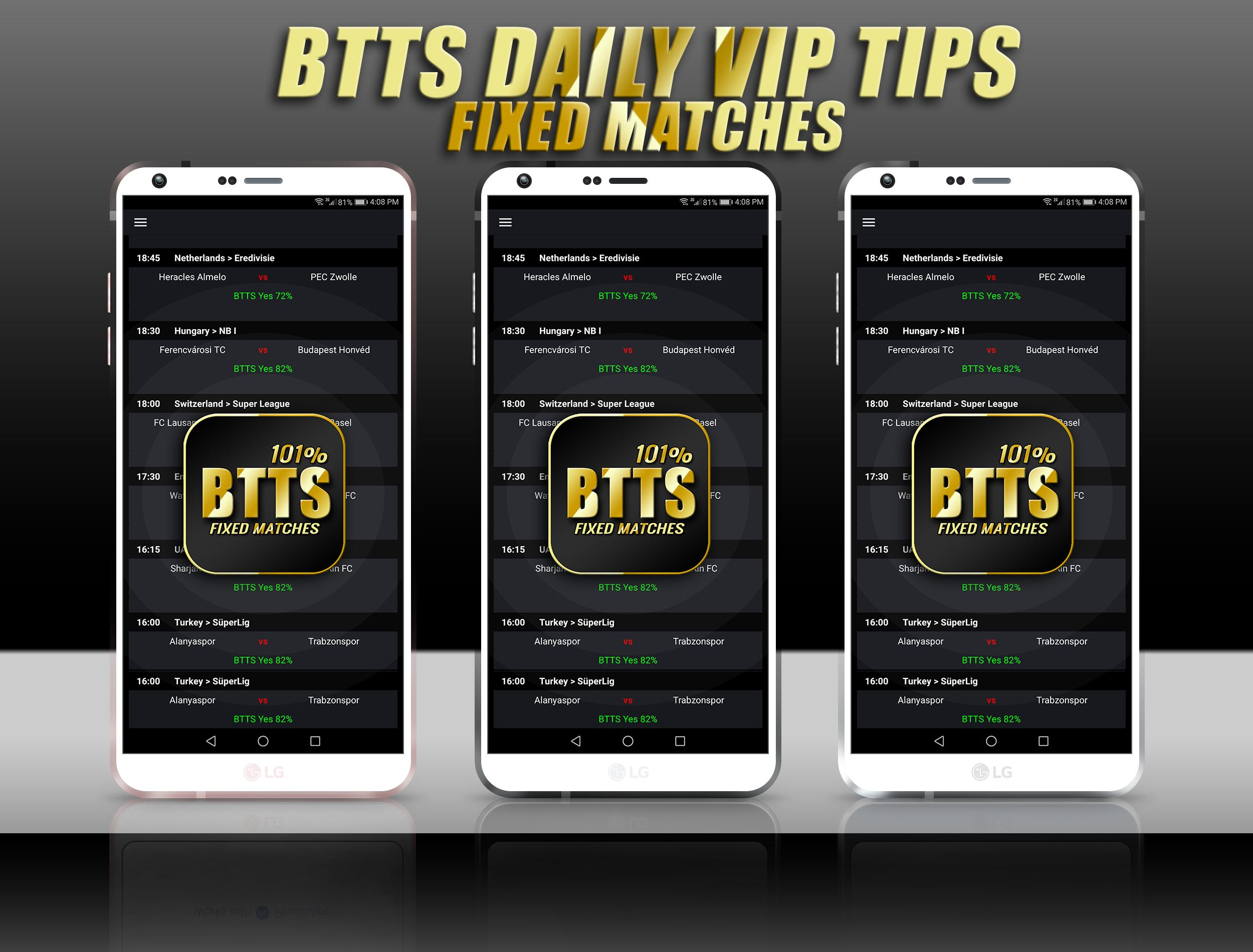 BTTS Both Teams To Score FIXED Matches for Android - APK Download