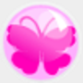 shooting butterfly icon