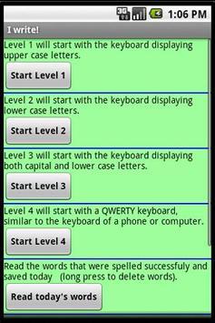 I Write! - demo apk screenshot