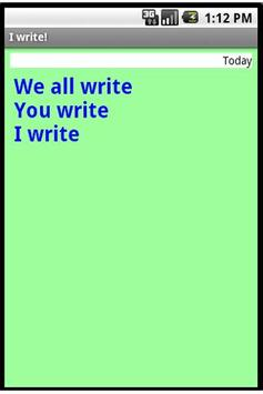 I Write! - demo screenshot 3