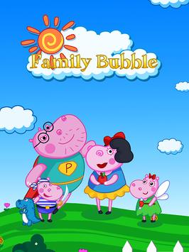 Hippo's Familly Bubble poster