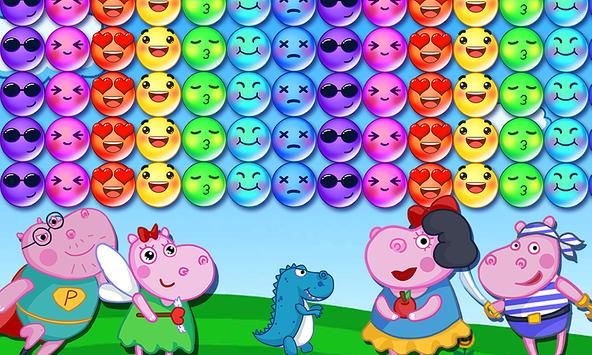 Hippo's Familly Bubble screenshot 5