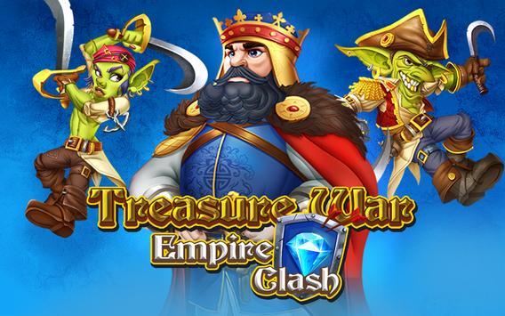 empire clash treasure war poster