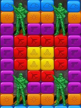 toy puzzle crush:army men screenshot 2